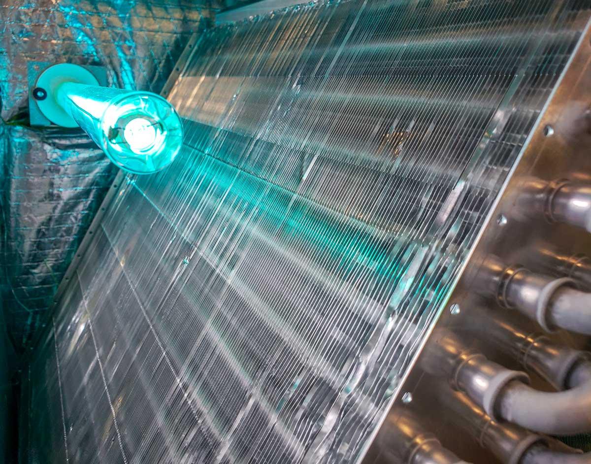 HVAC-evaporator-coil-with-UV-light