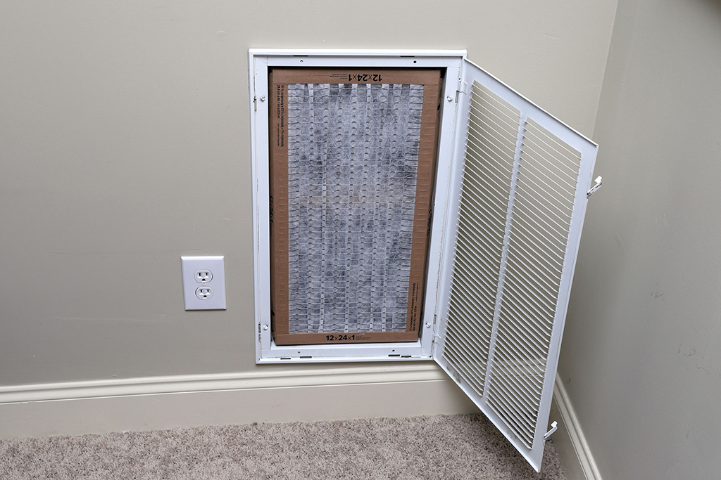 Clean Air filter for home central air conditioning system